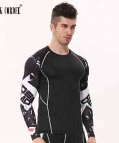Fitness CORDEE 3D print long sleeve shirt men's bodybuilding Skin Tight