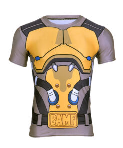 OW McCree 3D print shirt for men bodybuilding fitness Crossfit Casual O-neck