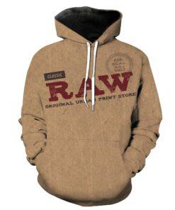 2018 Men Women Super 3D Raw Rolling Papers autumn hoodies
