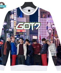 2018 KPOP GOT7 3D printed hoodies oversized sweatshirts women men Harajuku