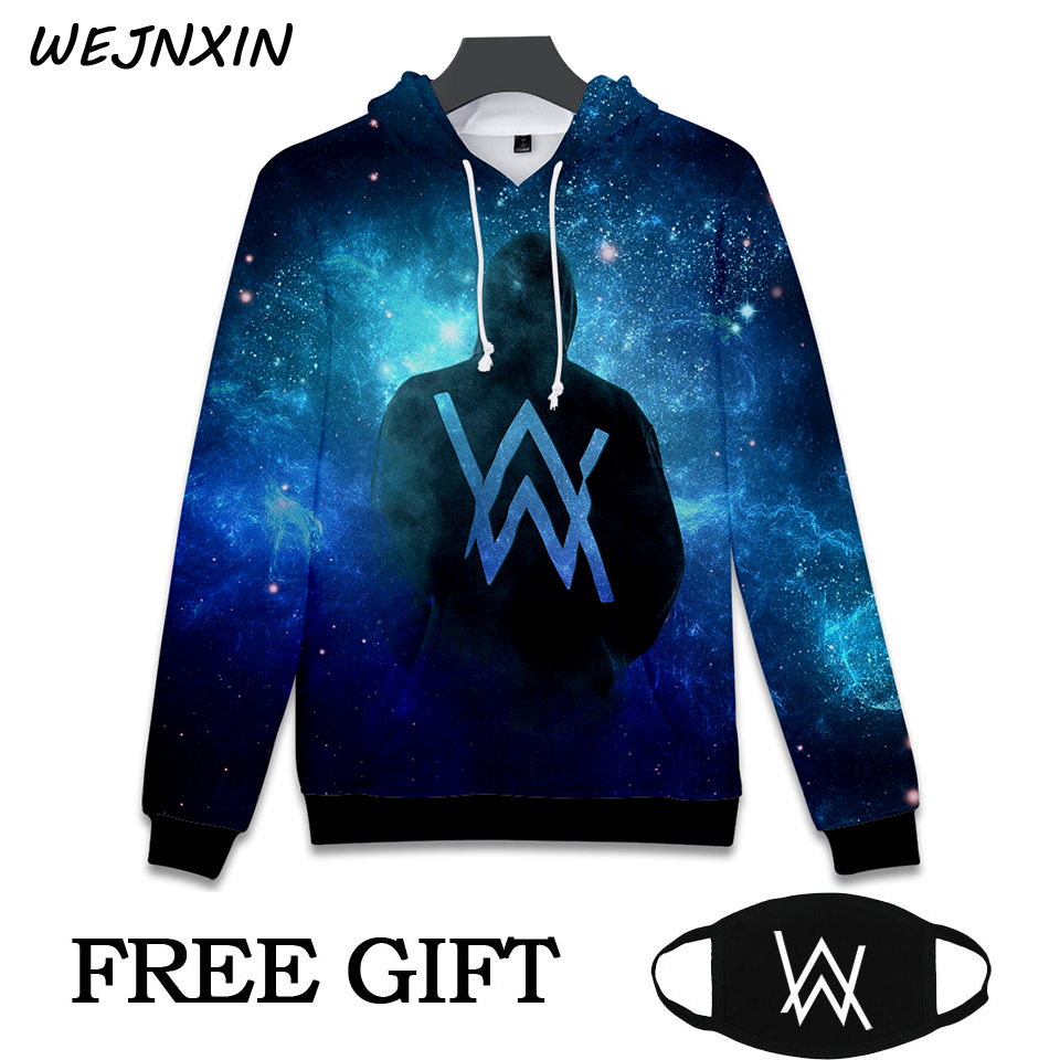 info for ba6c0 c894c 2018 DJ Alan Walker Hoodie with free gift mask 3D printing Hip Hop