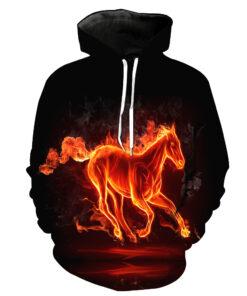 2018 T-shirt men / women 3D printing pattern horse animal Llama Hooded