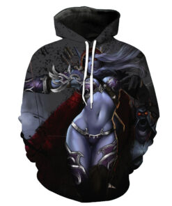 2018 T-Shirt male / female pattern printing Storm 3D game unisex hooded