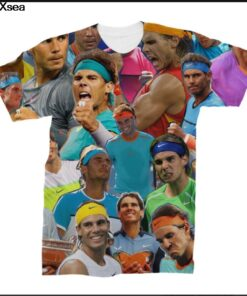 Rafael Nadal 2018 Collage 3D photo printed shirt famous brand Top Tees