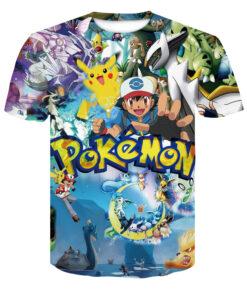 3D Pokemon Pikachu T-shirt for men women summer casual shirts Tops