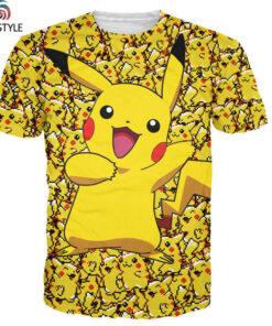 Pokemon Pikachu T-shirt for men women summer fashion casual shirts Clothing Tops cute anime cartoon costume Drop Ship