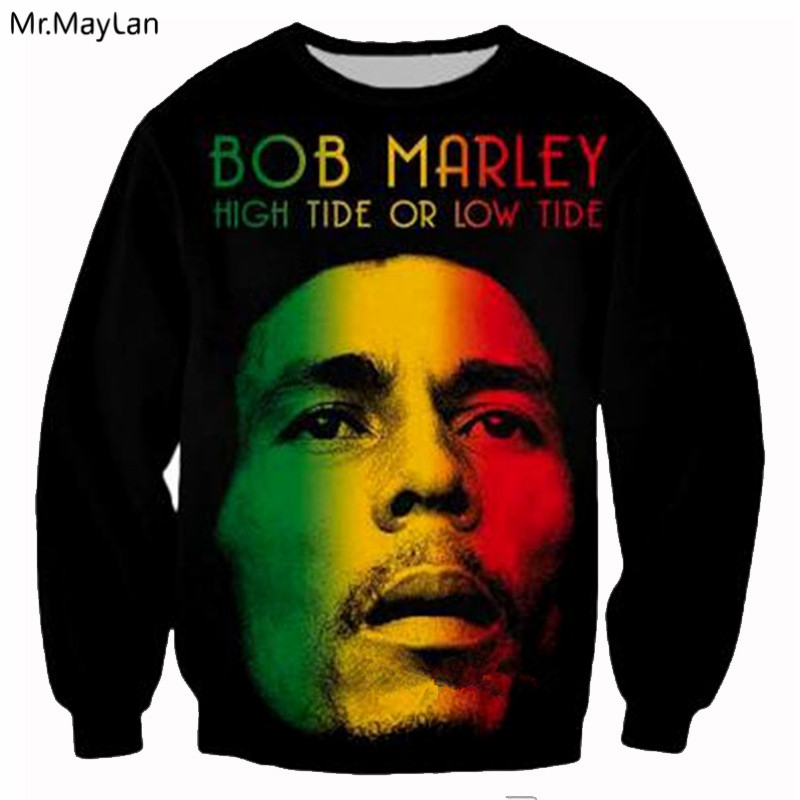 3D printing Hiphop reggae singer Bob Marley music O-Neck