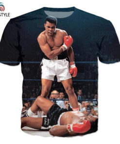 Men Short Sleeve 2017 Summer tops Shirt Men's Clothing causal 3D graphic t-shirt Muhammad Ali