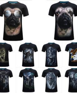 Animal Gog Tiger Eagle T-shirts 3d funny mens Casual Clothing Short