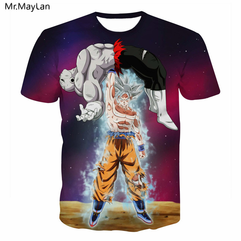 ac34b6ce 5XL animated Dragon Ball Z DBZ Goku Vegeta 3D printing T shirt casual men  women