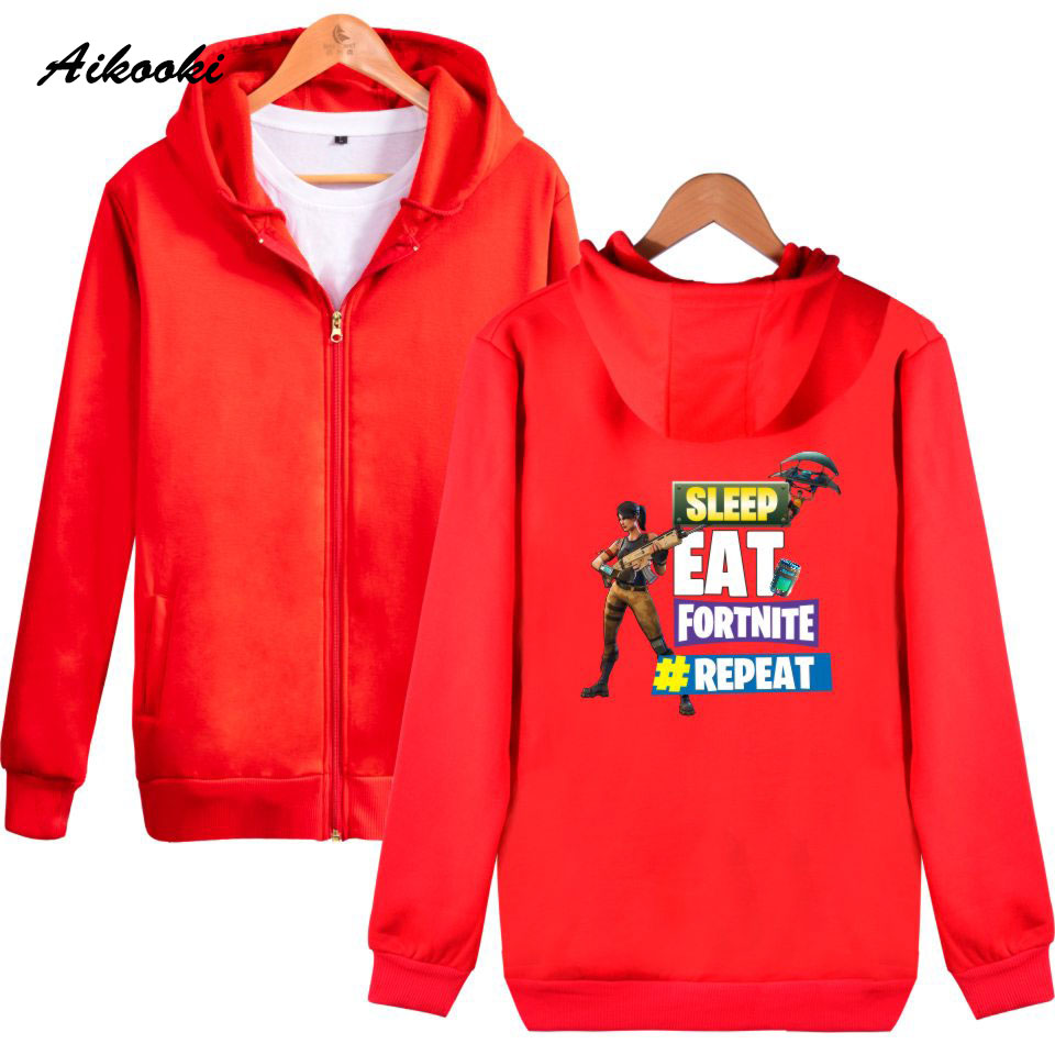 Fortnite 2018 Men Women Hip Hop Hoodies Zip Hoodies Cotton 3d