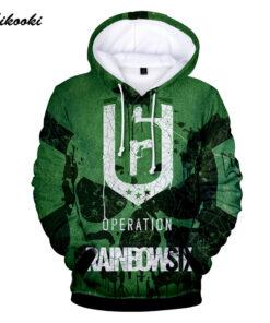 Rainbow Six Siege 2018 Men / Women 3D hooded sweatshirt hood thin line