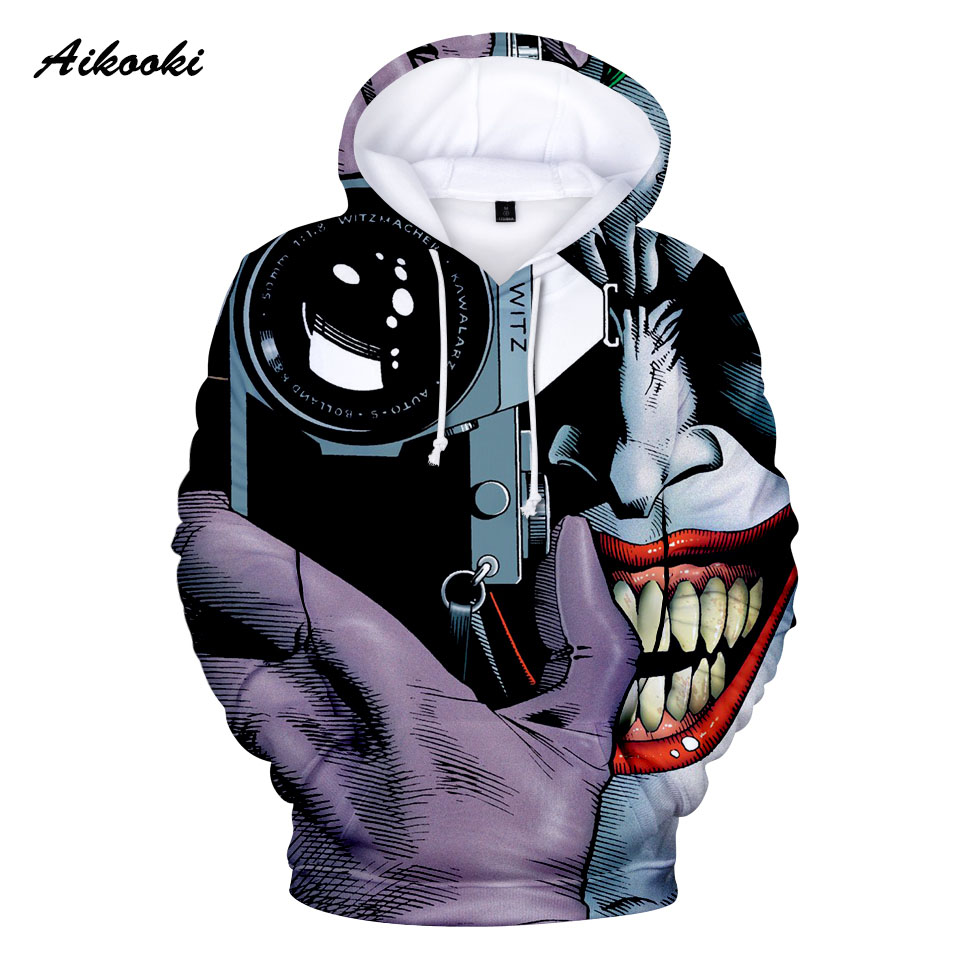 e64173376 Joker Hoodies men / women fall winter tracksuits unisex pullover 3D ...