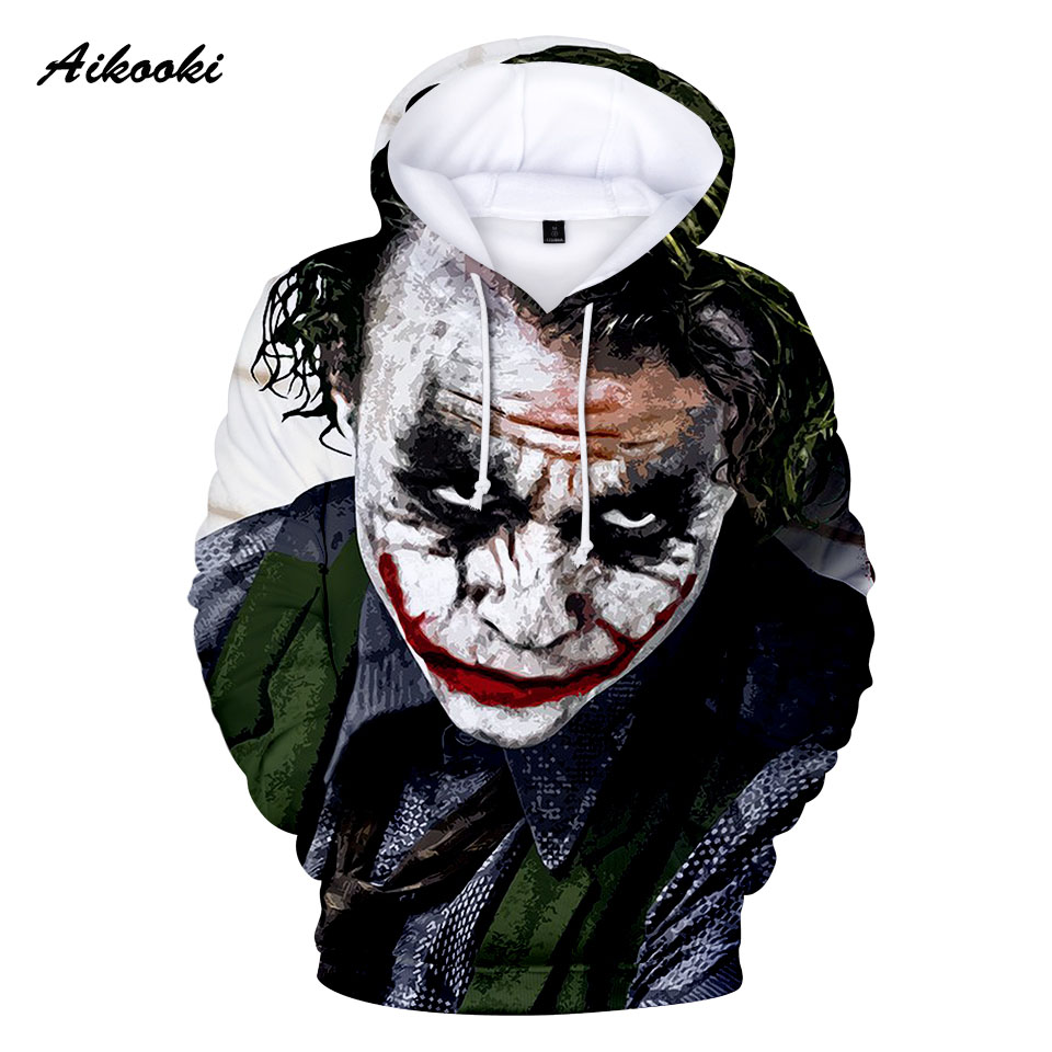 c6990115b397 Joker sweatshirts Suicide Squad 3D printing Deadshot Hooded Casual Male