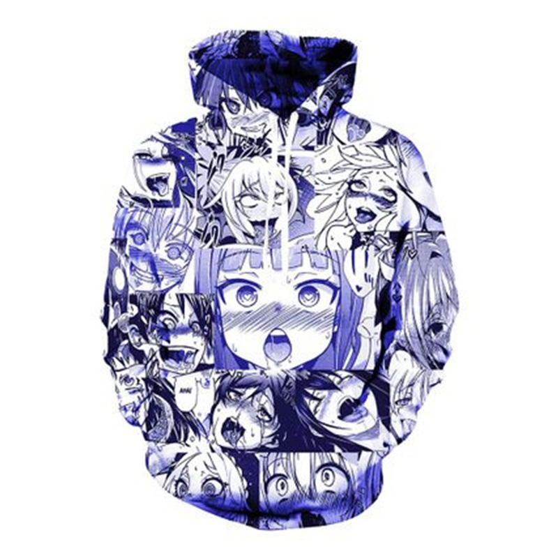 Wear Funny Animated Person 3d Printing Ahegao Men Women Fortnite Street T
