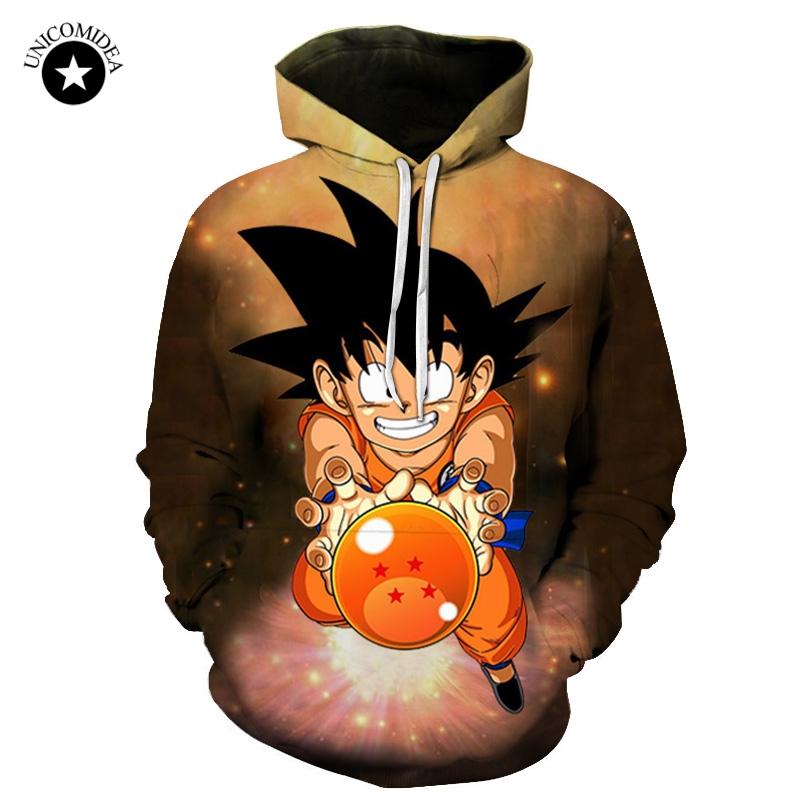 dd450aca911a Anime Dragon Ball Z Kid pocket Hoodies men women long sleeve - Wolamola