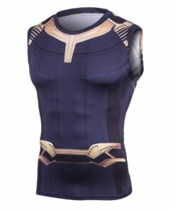 3 Thanos Avengers 3D printed T-shirts Man compression cosplay