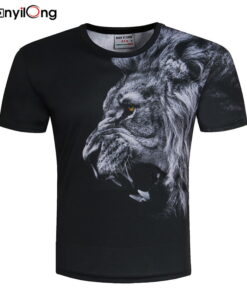 BIANYILONGNew Men / Women's Lion Designed 3D printing summer with style