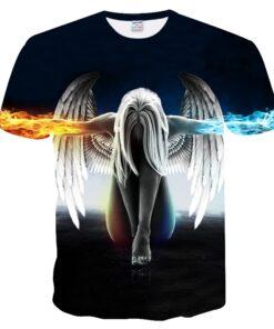 Big yards T-shirt men / women summer 3d Angel T shirt tops tees Print