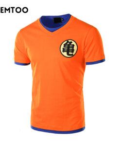 Dragon Ball Z men short sleeve casual shirt 3D Anime Cosplay Goku