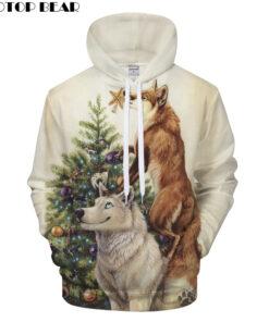 Men Women Hoodies Printed 3D Swatshirt Streetwear Hoodie Wolf ZOOTOP BEAR