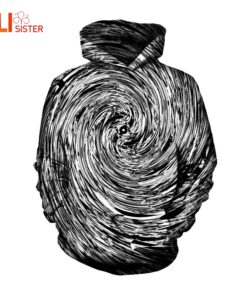 2018 Clothing Line intensive hypnosis sweatshirts Black White Men Women's Hoodie