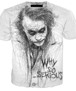 Novelty Men t shirt Joker Why So Serious 3D Full Print Harajuku Streetwear