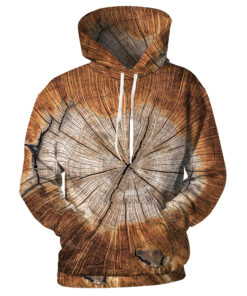 2018 autumn hoodies 3D printing sweatshirt Tree Cross Section