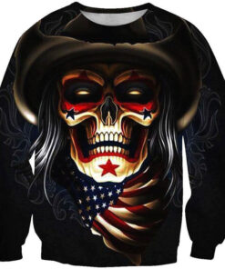 2018 T-Shirt Men cowboy skull 3D printing spring autumn bridges Street