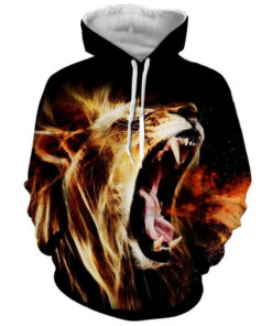 3D Print hoodies Men's Clothing 2018 Lion Casual hooded tracksuit