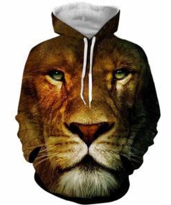 3D Print hoodies clothing Lion 2018 casual long-sleeved Jerseys Men Women