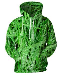 Sweatshirts Autumn Winter Men Women 3D printing green grass dew male sweatshirt