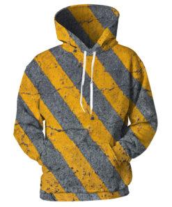Diagonal Stripes Mens Hooded 3D printing Zebra Crossing sweatshirt