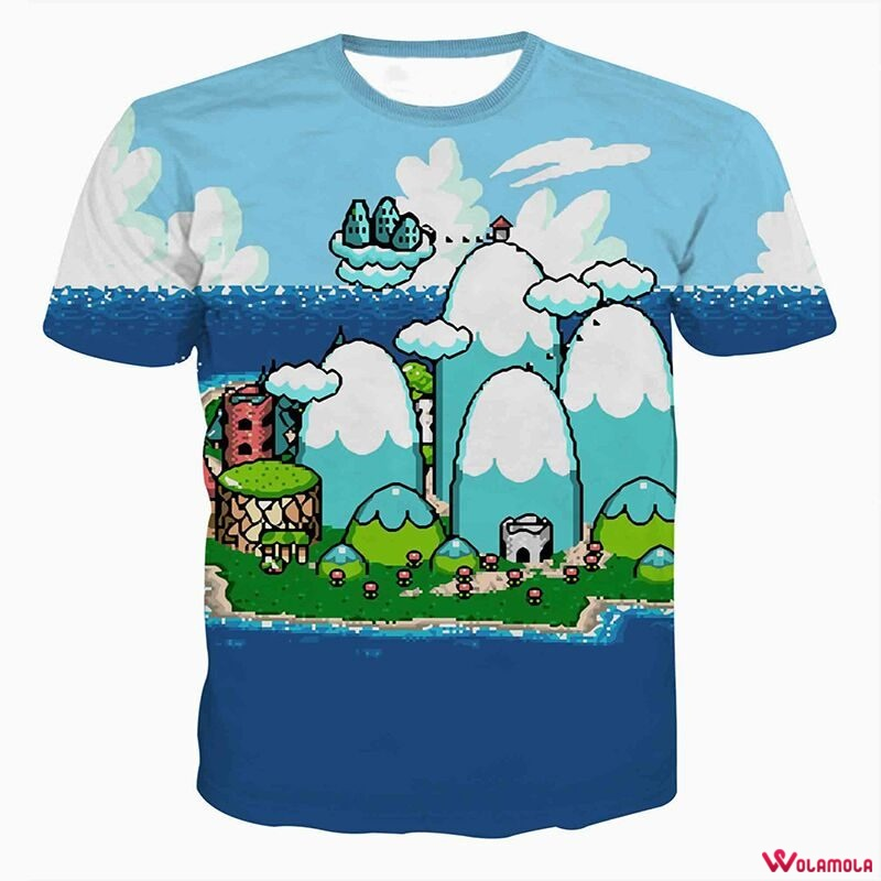 Shirts Men cartoon 3D Full Print Tee Shirts Streetwear casual summer tops