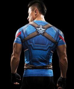 A 3d pastel T-shirts Men Compression Short Sleeve Print Captain America