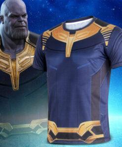 3 Thanos Avengers 3D Printed O-neck T-shirt Men Short Sleeve cosplay