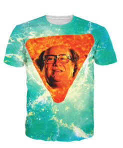 Danny DeVito in Nacho Cheese Flavor tops casual short-sleeved shirt funny 3D