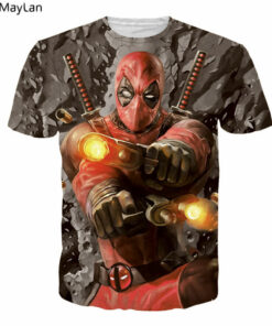 Deadpool times 3D printing t-shirt tops summer casual women's shirts men shirt