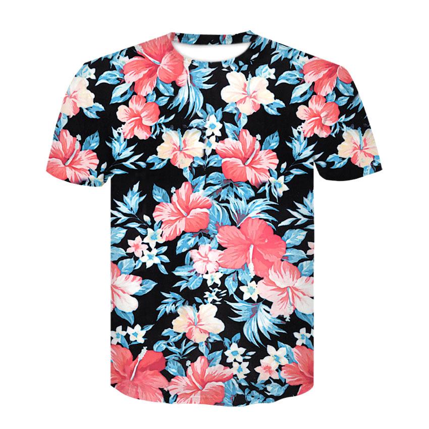 8b531272da2 Lyst Gucci Fl Print T Shirt For Men. 2018 Du Hiphop Shirt Red Flowers 3d  Sheets Printed Short Sleeved Shirt Men