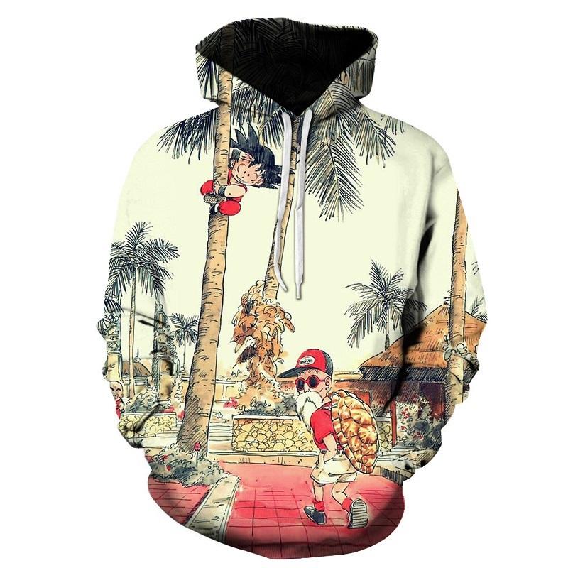 Du sweatshirts Men Women 3D Dragon Ball Z animated hooded sweatshirts casual