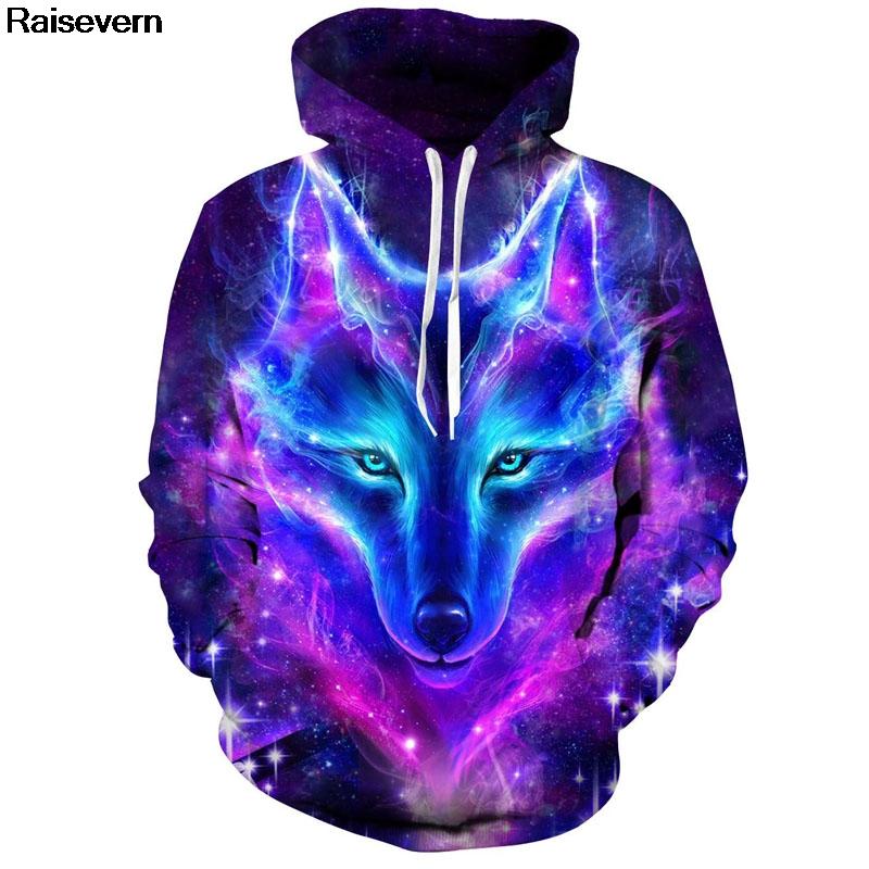 Eur Wolf Men Women Hooded Sweatshirt 2018 Autumn Spring