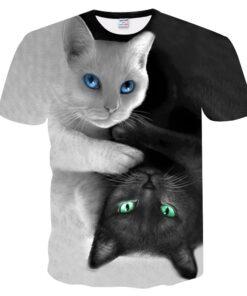 2018 BEAR T-shirt men / women 3d Cat T Print short two sleeve summer