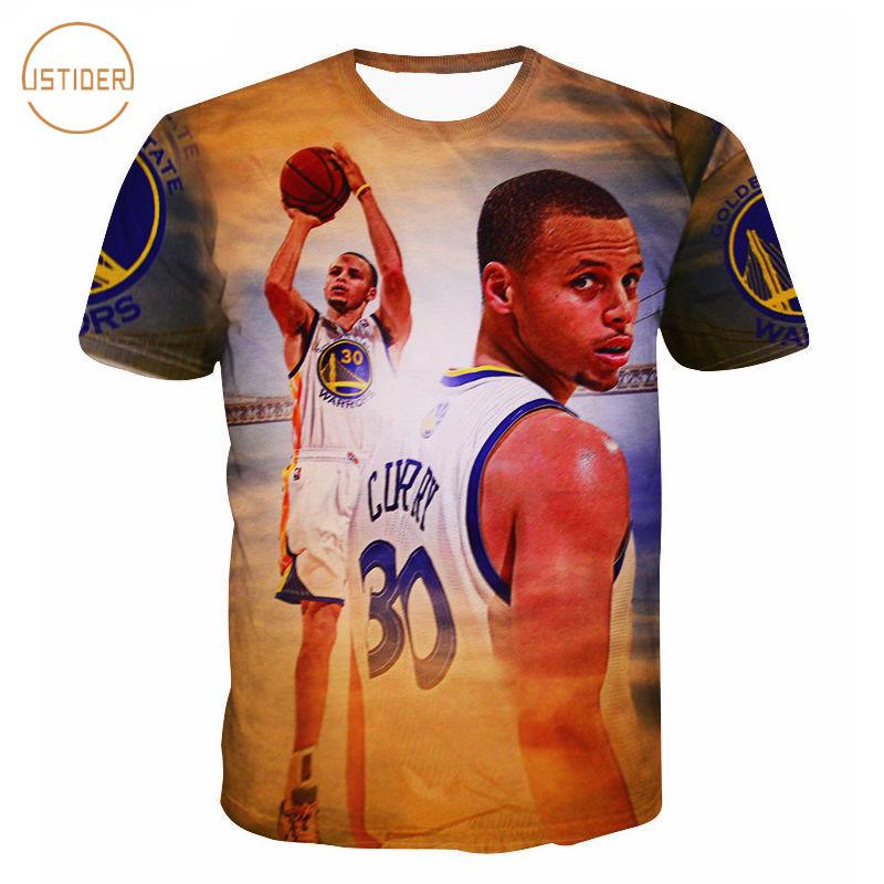 quality design a34c9 1671d Stephen Curry Boy 3D Print Short Sleeve Casual Men Jordan