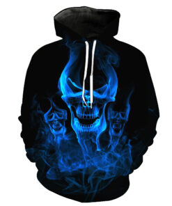 Shirts for Men 3d Hoodies agile Two skull printed pieces