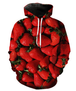 Sweatshirts hooded sweatshirt 3d men with two printed pieces noodles