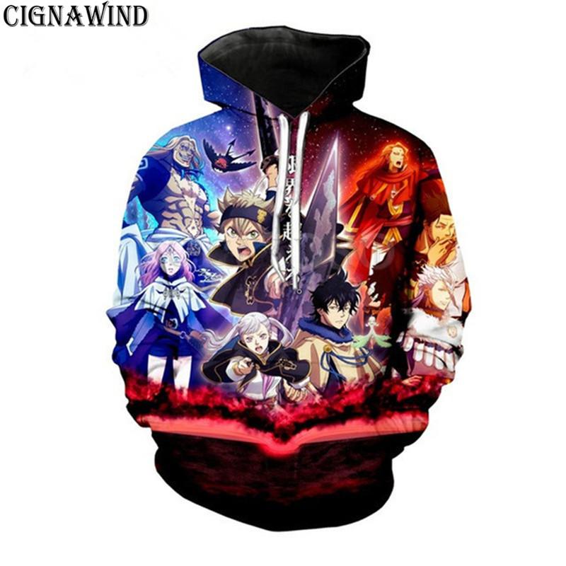 hoodies men / women sweatshirt animated 3D printed Japanese Black Clover