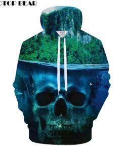 Skull Women BEAR Forest 3D Hooded Men Boy Hooded Pullover Groot tracksuit