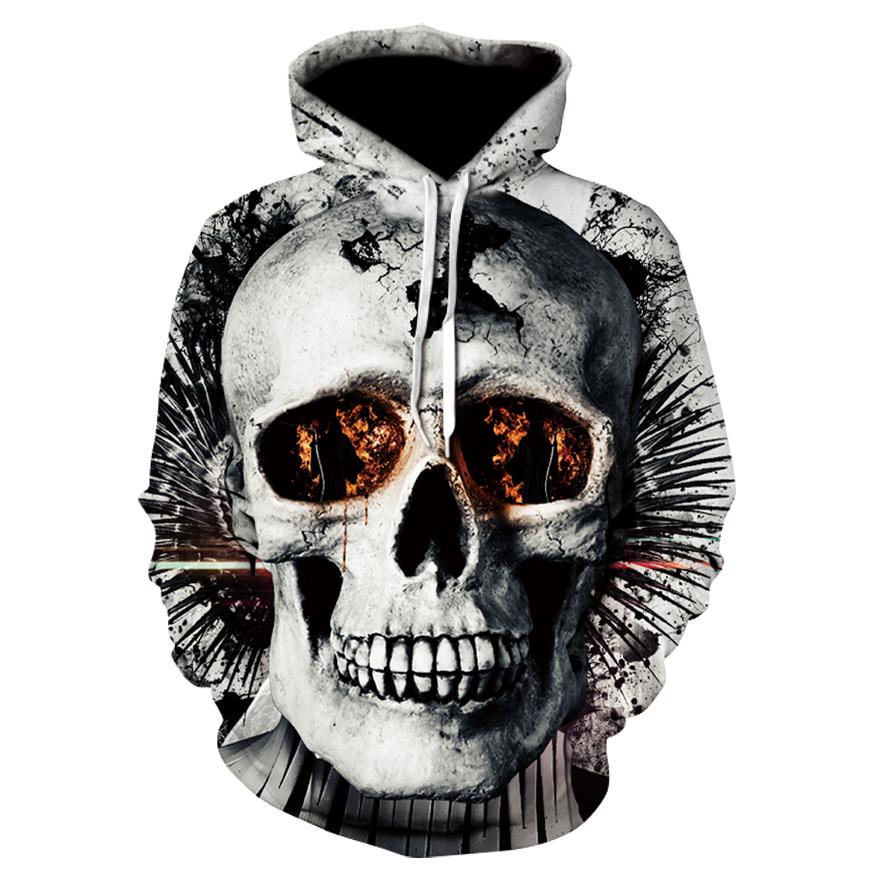 Funny 3D printing sweatshirts Hip Hop 2018 autumn hooded sweatshirt mens womens