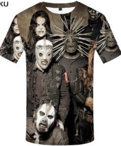 Gothic punk clothing brand shirt Tees Slipknot rocker clothes mens tee 3d