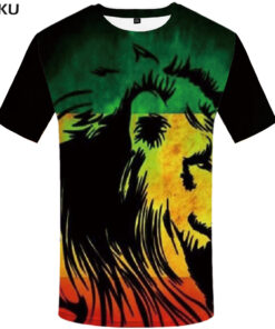 Lion Brand Brazil shirt Hip Hop Streetwear funny clothes men short 3d